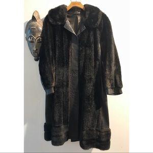 Vintage leather & faux fur coat 🌵👅